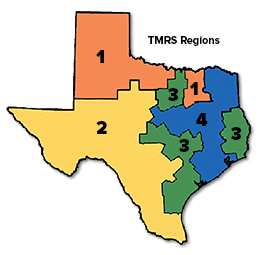 Texas Map with Manger Regions